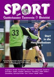Ausgabe September 2011 - Gadderbaumer Turnverein v. 1878 eV ...