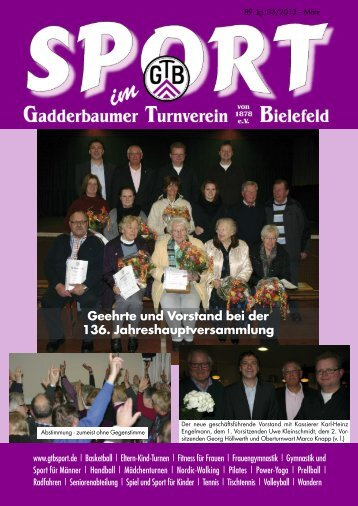 Ausgabe März 2013 - Gadderbaumer Turnverein v. 1878 eV Bielefeld