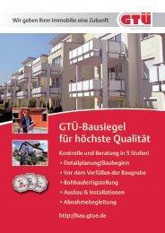 Info-Blatt zum GTÜ-Bausiegel (pdf, 424.6 kB)