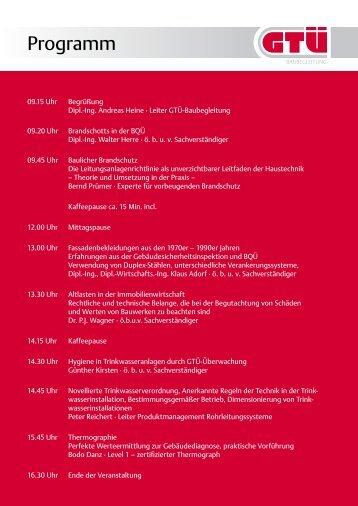 BQÜ-Forum 2012: Programm & Anmeldung (pdf, 293.7 kB) - GTÜ