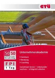 HR-Broschüre Unternehmerakademie: Seminare, Beratung ... - GTÜ