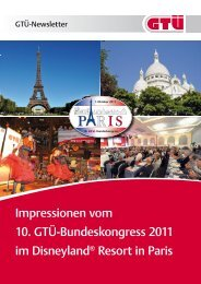Bundeskongress 2011: Rückblick (pdf, 1.5 MB) - GTÜ