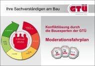 Präsentation zur Konfliktlösung am Bau (pdf, 1.2 MB - GTÜ