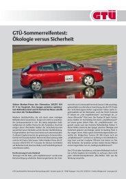 Sommerreifentest 2011 (pdf, 161.7 kB) - GTÜ