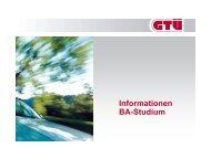 Informationen BA-Studium - GTÜ