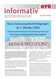 neue Zulassungsbescheinigung ersetzt Fahrzeugschein und - GTÜ