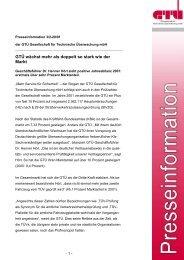 GTÜ wächst mehr als doppelt so stark wie der Markt (pdf, 43.6 kB)