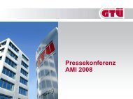 Präsentation zur Pressekonferenz, AMI 2008 (pdf, 1.1 MB - GTÜ