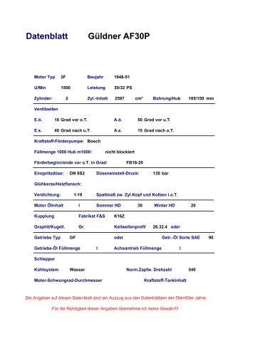 Datenblatt Güldner AF30P - Güldner-Traktoren