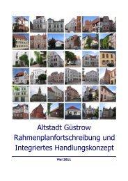 Altstadt Güstrow Rahmenplanfortschreibung und Integriertes ...
