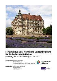 Monitoring Stadtentwicklung 2012 - Barlachstadt Güstrow