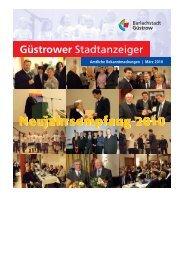 Güstrower Stadtanzeiger Nr. 3 März 2010 - Barlachstadt  Güstrow