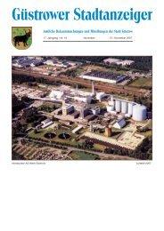 Güstrower Stadtanzeiger - Barlachstadt Güstrow