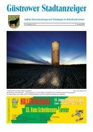 Güstrower Stadtanzeiger Nr. 1 Januar 2009 - Barlachstadt Güstrow