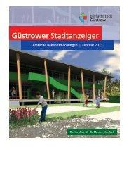 Güstrower Stadtanzeiger - Februar - Barlachstadt Güstrow