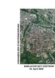 Vorhaben der Stadterneuerung (Broschüre) - Barlachstadt Güstrow