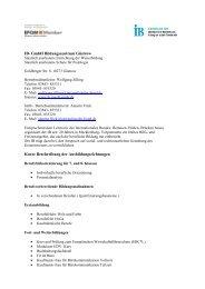 IB- GmbH Bildungszentrum  Güstrow Kurze Beschreibung der ...