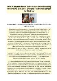 DRK-Vizepräsidentin Schenck zu Schweinsberg informierte sich über