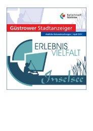 Güstrower Stadtanzeiger Nr. 4 April 2011 - Barlachstadt Güstrow