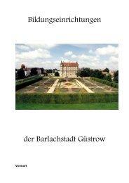 Vorwort des Bürgermeisters - Barlachstadt Güstrow