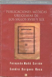 Publicaciones médicas uruguayas de los siglos XVIII y XIX ...