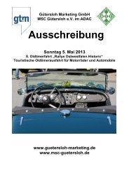 Ausschreibung - Gütersloh Marketing GmbH