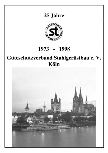 Festschrift zum 25-Jährigen Jubiläum - Güteschutzverband ...