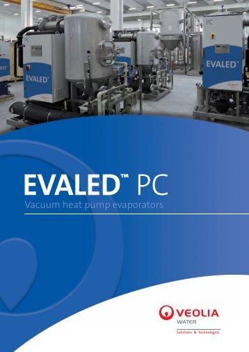 Vacuum heat pump evaporators