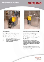 Mikrofiltration Typ KOMPalox - Gütling Wassertechnologie GmbH