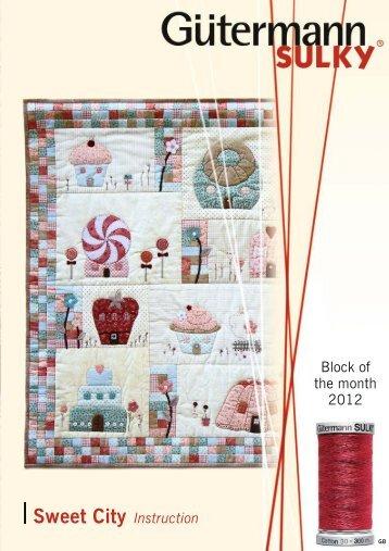 Page 1 |. I | I. . | I. Block of the month 2012 I Sweet City Instruction ...