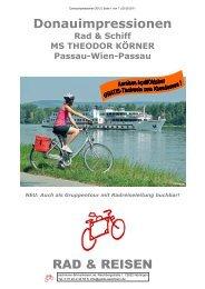 Donauimpressionen 2012 | Seite 1 von 7 - Sackmann Fahrradreisen
