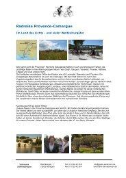 Radreise Provence-Camargue - Sackmann Fahrradreisen