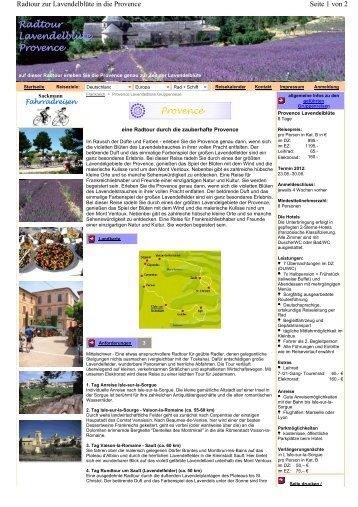 Radtour Lavendelblüte Provence - Sackmann Fahrradreisen
