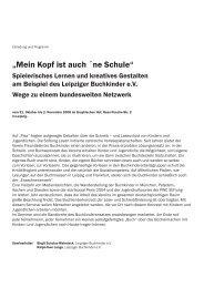 """""""Mein Kopf ist auch ´ne Schule"""" - Buchkinder Leipzig eV"""