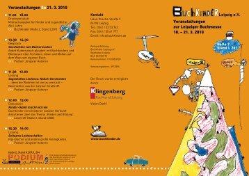 Veranstaltungen zur Leipziger Buchmesse 18. – 21. 3. 2010 ...