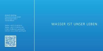 Wasser ist unser Leben. - Antech GmbH