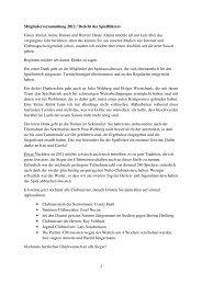 Bericht des Spielführers MGV2012 - Golfclub Gut Berge