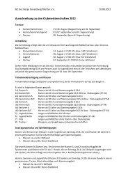 Ausschreibung zu den Clubmeisterschaften 2012 - Golfclub Gut Berge