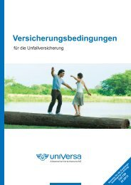 Allgemeine Versicherungsbedingungen Universa Unfallversicherung
