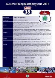 Ausschreibung Matchplayserie 2011 - Golfclub Gut Berge