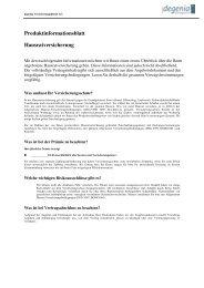 Produktinformationsblatt Hausratversicherung