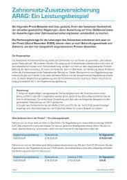 Zahnersatz-Zusatzversicherung ARAG: Ein Leistungsbeispiel