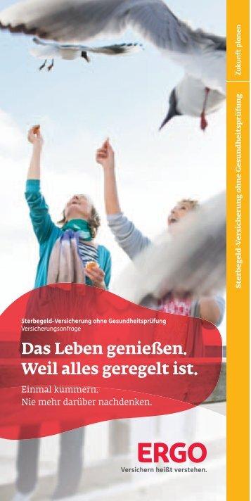 Flyer Sterbegeld inkl. Versicherungsbedingungen 01/2012