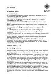 Predigt - Gustav-Adolf-Werk eV