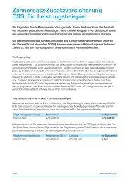 Zahnersatz-Zusatzversicherung CSS: Ein Leistungsbeispiel