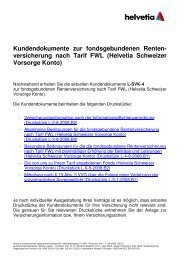 Kundendokumente zur fondsgebundenen Renten- versicherung ...