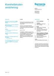 Tarifbedingungen AN+ - Barmenia Versicherungen