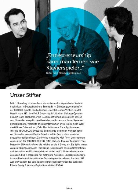 SCE-Stifter Falk F. Strascheg im Interview