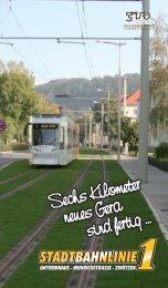 Broschüre Stadtbahnlinie 1 (erschienen  2006) - Geraer ...