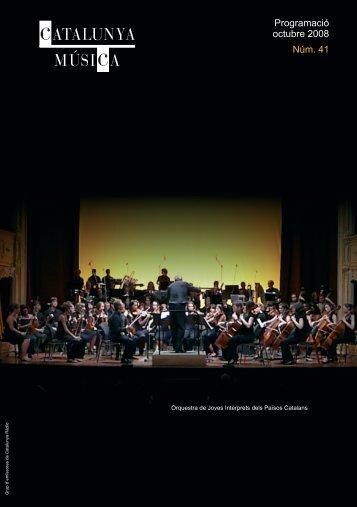 revista octubre:REVISTA.qxd.qxd - Catalunya Música